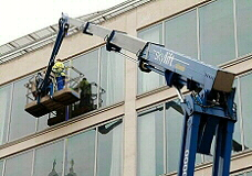 Skylift commercial window cleaning